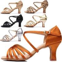 Mujer latina de la danza zapatos de las señoras de las muchachas la zapatilla de deporte zapatos de baile para las mujeres Jazz salsa del salón de baile zapatos de 6 colores Sobre 5cm / 7cm A01D