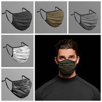 Камуфляж маска для лица Моды дышащих пыленепроницаемом моющегося многоразового Quick Dry Маска Мужской сетка задействуя маска CCA12463 120pcs
