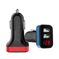 Dual USB Car Charger 5V 2.1A Car carregamento com LED carregamento rápido Carregador para Samsung Cell Phone