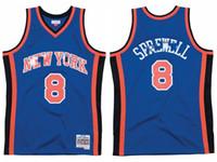 Yeni erkeklerYorkKnicksLatrell Sprewell Mitchellness 1998-99 Hardwoods Classics Authentic Jersey