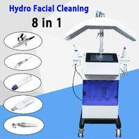New 8 em 1 Water Hydra microdermoabrasão da pele facial limpeza Oxygen Jet BIO Ultrasound hydradermabrasion máquina dermoabrasão hydrafacial