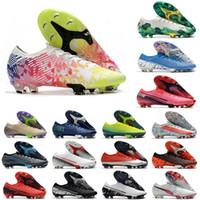 Chuteiras erkek kadın çocuk erkek çocuk futbol ayakkabıları Superfly 7 Elite SE FG futbol krampon CR7 neymar düşük ayak bileği krampon Mercurial 13 EUR35-45