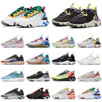 Nike React Vision Element 55 87 scarpe da corsa per uomini donne Luce Bone triple nero bianco Oro rosso mens formatori esterni sneakers sport