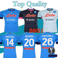 S- XXL 20 21 napoli soccer jersey home away 3RD BLUE 2020 202...