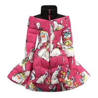 Winter-Mode Mädchen Daunenmantel Prinzessin Mädchen Warme Kleidung Kind-Baumwoll Thick thermische lange Oberbekleidung für Kinder Windjacke