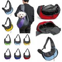 Haustier Umhängetasche Hund Katze Frontkomfort Reisen Tasche Protable Mesh Tuch Pet Packsack Welpen Einzelner Umhängetasche Hund Cat Carrier LSK1435