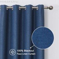 Занавес Drapes Makehom 100% закрывает шторы для спальни гостиной сплошной цветной белья термальная утепленная современная кухня