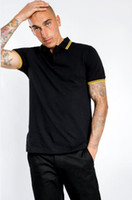 Alta calidad algodón verano manga corta hombres polo camisas estilo británico polos casual moda moda solapa camiseta inglaterra tees azul marino