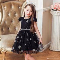 2020 Elegancka dziewczyna Pageant Dresse Princess Gwiazdy Bez Rękawów Sukienka Graduatioin Party Ball Suknia dla dziewczyn