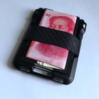 Vintage RFID Çift Alüminyum Kutu Metal Kart Cüzdan Erkekler Kadınlar Kimlik Banka Kartı Vaka Sahipleri Hırsızlığa karşı Sihirli Cüzdan için