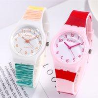 Neue Art und Weise Uhr-Frauen-Genf-Silikon-Uhr Kinderuhren Mädchen Bunte-Quarz-Armbanduhr Kinder Uhr