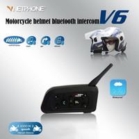 Vodool V6 Motorcycle Capacete Bluetooth Intercom 10 Riders 1200M Headset de Motocicleta Sem Fio À Prova D 'Água Sem Fio BT Interphone