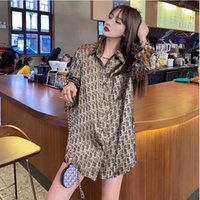 Autumn 2020 new satin women' s shirt, loose Korean versi...