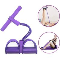 4 Rohrmultifunktions-Krafttraining Pull Seil Sit-up-Expander-Fuss-Pedal-Workout Bands Home Gym Sport