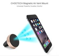 200pcs Car Magnetic Air Vent Mount Mobile Smart Phone Holder Handfree Dashboard Metal Stand For iPhone Samsung S8