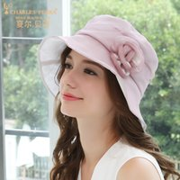 Summer Women Hat Silkworm Silk Sunshade Hats Folding Lady El...