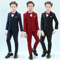 Abiti da ragazzi formali per matrimoni Party Bambini Blazer Suit Boys Costume Mariage Jogging Garcon Blazer Teens Boy British Style smoking