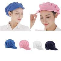 Berretti traspiranti chef regolabili cappelli cameriere cappelli ristorante cucina workshop capelli net service operaio uniforme cappello rosa bianco blu