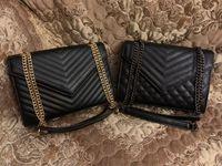 고품질 플랩 가방 럭셔리 디자이너 핸드백 일몰 원래 가죽 여성 어깨 가방 패션 매체 크로스 바디 가방