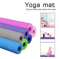 Yoga-Mat Pad 183 * 61 mit 10 mm Umweltschutz-Anti-Spin-tastelloser gesunder haltbarer Bodenmatte für Fitness Camping Spiel