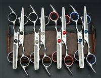 1 пара 2Pcs 6,0 Фиолетовый Дракон Профессиональный человеческих волос Ножницы Hairdressing резки + филировочные ножницы для укладки волос Средства Z1001