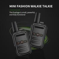 Profissional Mini Walkie Talkie Radio Station Transceptor Alta Qualidade Ultra-fino Ultra-Talkie Dois Caminhos Rádio Para Caminhadas Camping