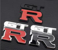 Yüksek kaliteli GTR Metal Krom 3D araba amblemi Rozet araba sticker GTR metal etiket araba stil nişan gtr ücretsiz gönderim