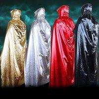 Disfraces de Halloween brujo muerte Capa de Cosplay de Halloween Prop muerte capucha Capa Diablo manto con capucha adulta del Cabo LX3007