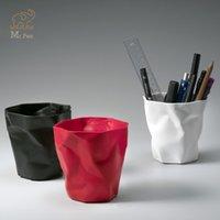Kalem Kutuları Düzensiz Şekil Pileli Plastik Kalem Sahipleri İşlevli Masaüstü Saklama Kutusu Memo Ofis Kırtasiye Organizatör Araba Çöp Kutusu