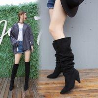 тенденции моды мелких рот клиновидных сапоги новый женский дизайнер дизайн печной партия служащие наборы Мартин ботинки