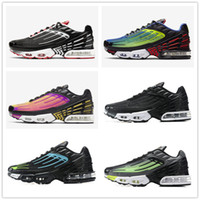 2020 Новые поступления TN PLUS 3 Metallic White Silver Тройной Black Men кроссовки Tn Plus тренер тапки обувь Бесплатная доставка