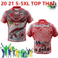 새로운 시즌 뜨거운 판매 2021 호주 세인트 조지 파라 마타 홈 럭비 유니폼 셔츠 Rabbitohs 멜버른 원주민 럭비 유니폼 셔츠 S-5XL