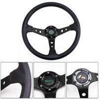 "Universal 350mm 14 ""Racing Car 6 Bolt Wheet Wheel Button Botón de cuerno 95mm Plato de profundidad"
