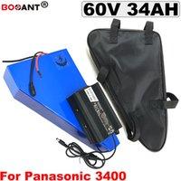 аккумулятор треугольник Ebike 16S 10P 60V 34Ah 1000W 2000W электрический велосипед литиевая батарея для Panasonic NCR18650B кювету с 5A Зарядное устройство