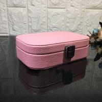 휴대용 미니 공주 여행 보석 가방 5 색 귀여운 스터드 귀걸이 반지 목걸이 컬렉션 스토리지 박스 소녀 선물 케이스 H203F WTLT