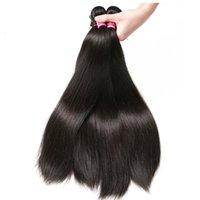 البرازيلي نسج الشعر مستقيم حزم الأسود الطبيعي 1/3 / 4PCS / لوط 100٪ الانسان الشعر حزم ريمي شعر إمتداد