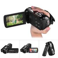 캠코더 1080P 풀 HD 디지털 비디오 카메라 캠코더 16 × 줌 회전 LCD 터치 스크린