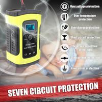 Plein automatique de voiture Chargeur de batterie 110V à 220V 12V 6A Puissance rapide intelligente de charge humide sec plomb acide écran LCD numérique