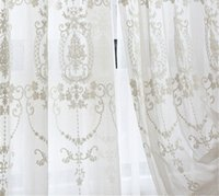 European Voile Sheer Curtains for Window Bedroom Lace Curtai...