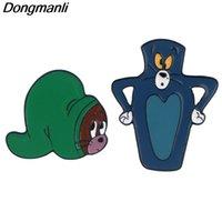 Pins, spille P5092 Dongmanli carino gatto smalto pins spilla distintivo donna risvolto zaino sacchetti di gioielli anime regali