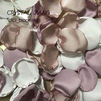 Мягкая абрикосовые и орхидеи Белого цвета Лепестки розы стол декор Лепестки Для Свадьбы Детских Дождей Цветочница Rose Petal
