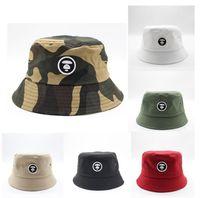 Камуфляж вышивки Bucket Hat Складная Travel Beach Sun Fisherman Bowler Caps Fashion Street Шляпы 8 цветов GD698