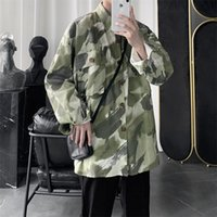 Moda Casual Cotton Tactical Jackets Mens Streetwear solto Hip-hop Bomber Jacket Autumn coreano Camo Jaqueta de Homens M-2XL