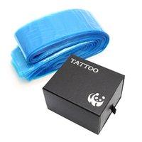 100 stks / pak Disposable Blue Tattoo Clip Cord Sleeves Tassen Covers Tassen voor Tattoo Machine Tattoo Accessoire Permanente Make-up