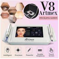 المهنية 2 في 1 ماكياج Artmex V8 الدائم الشفاه الوشم آلة العين الحاجب الروتاري القلم Microblading MTS PMU نظام DHL شحن سريع