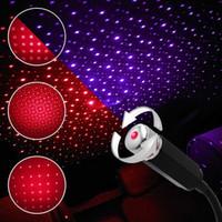 USB-Auto-Dach-Stern-Nachtlichtprojektor-Atmosphäre Galaxy Lampe Dekorative Sternenhimmel Licht Einstellbare Mehr Lichteffekte