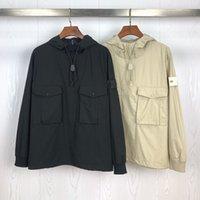남성 디자이너 재킷 포켓 럭셔리 후드 재킷 패션 남성 브랜드 자켓 새로운 19SS 남성 윈드 코트 야외 스트리트