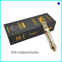 CurePEN Carts West Coast Cure Vape Cartridges 0.8ml 1.0ml Gold Carts pyrex glass with ChildProof Packaging OEM Brand Sticker DHL Shipping