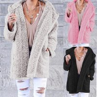 Designer fur clothing Womens Winter Warm Sweater outdoor jacket tops Cardigan Fashion Loose Outerwear Jackets Coats wool Thick Faux Fur coat