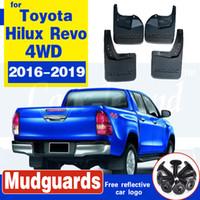 carro acessórios moldados Mud Flaps Para a Toyota Hilux revo 4WD 2016 2017 2018 2019 respingo Guards Frente Trás-lamas Fender